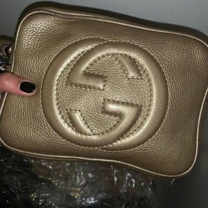 Gold Gucci Crossbody Purse